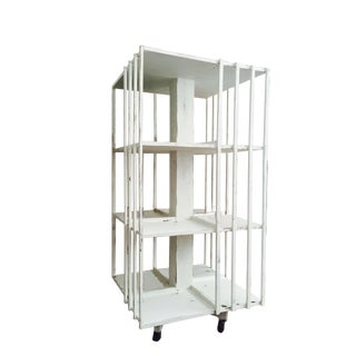 Revolving French Countryside Bookcase For Sale