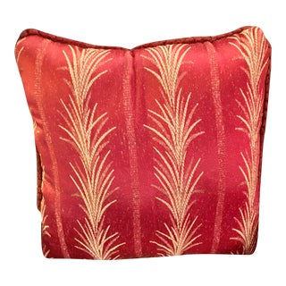 1940s Vintage Red Fabric Decorative Pillow For Sale