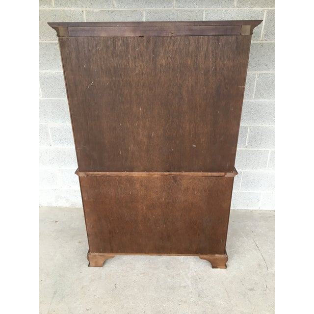 Pennsylvania House Cherry Chinese Chippendale Style 9 Drawer Chest on Chest For Sale - Image 11 of 13