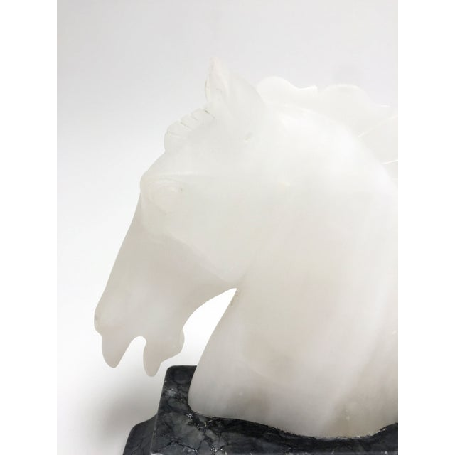 Vintage Alabaster Horse Head Bookends - A Pair For Sale - Image 9 of 10