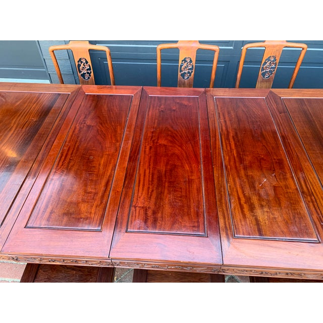 1950s Vintage Solid Rosewood Dining Set - 9 Pieces For Sale - Image 5 of 13