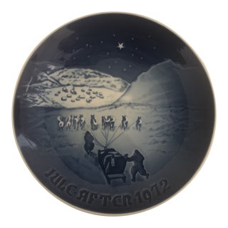 Bing & Grondahl Jule After 1972 Christmas Plate For Sale
