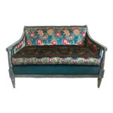 Image of Boho Chic Vintage Settee For Sale