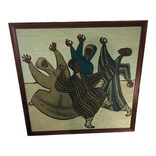 "Paul K. Freeman Painting ""Embal Dancers"" 1959 For Sale"
