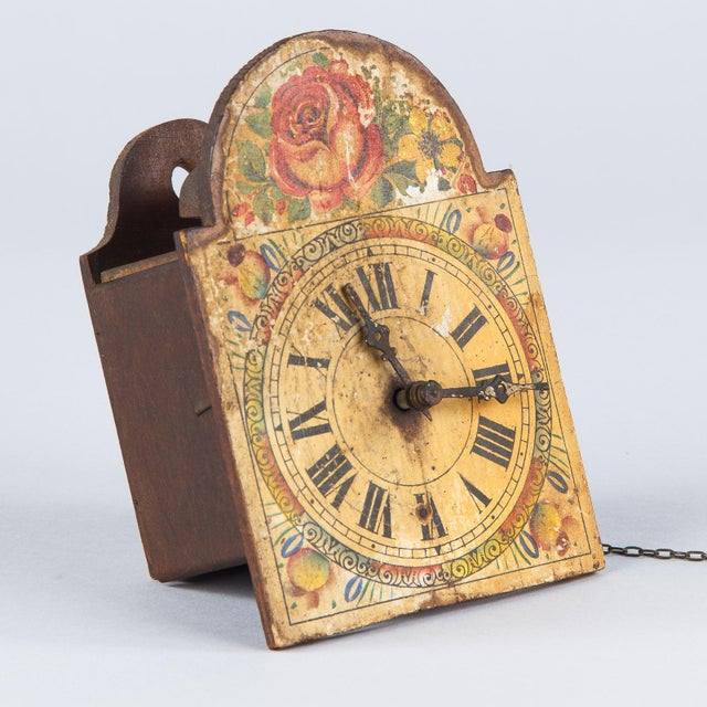 French Foret Noire Clock Painted Face, 19th Century For Sale - Image 13 of 13