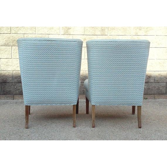 1980s Regency Armless Chairs-A Pair For Sale - Image 5 of 7