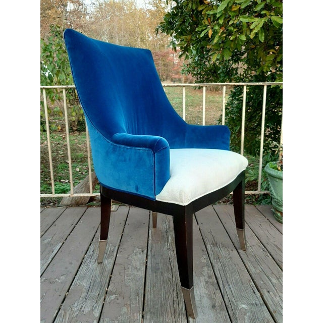 Item offered is a floor model from area furniture and cabinetry store. It is a Caracole You'Re Invited Blue and White two-...