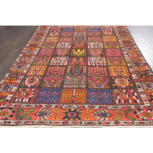 """Vintage Hand-Knotted Persian Rug - 6'9"""" X 10'5"""" - Image 2 of 4"""