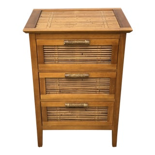 1960s Mid-Century Modern Bamboo Chest of Drawers For Sale