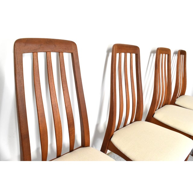 Benny Linden Teak Highback Dining Chairs - 6 - Image 7 of 11
