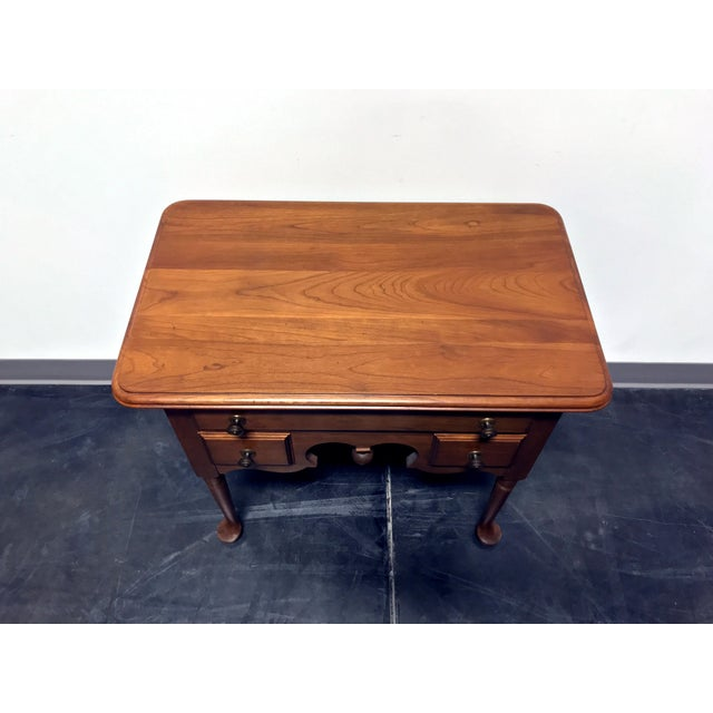 PENNSYLVANIA HOUSE Cherry Queen Anne Diminutive Lowboy Chest Nightstand with three drawers. 28w 17d 24h Excellent vintage...