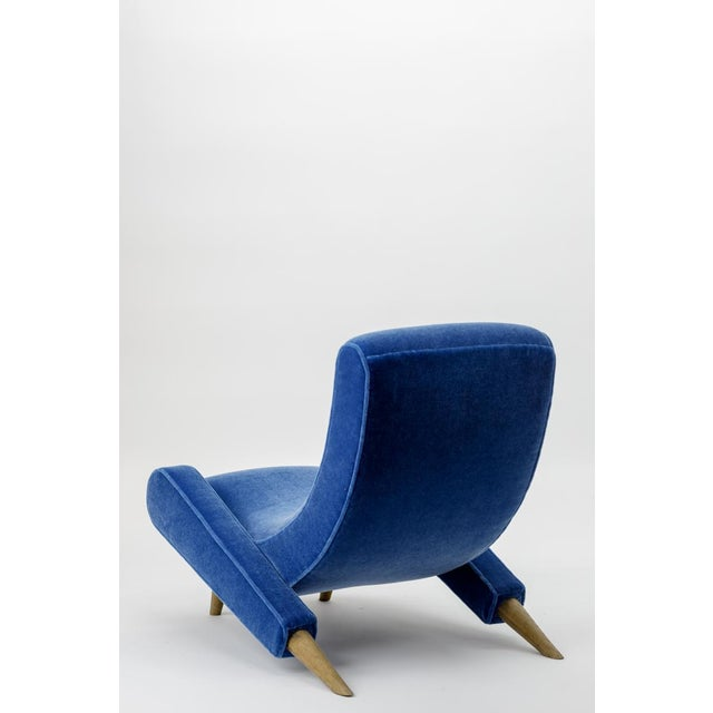 "1950s Jean Royere Stunning Documented Pair of Lounge Chairs Model ""Varsano"" For Sale - Image 5 of 13"