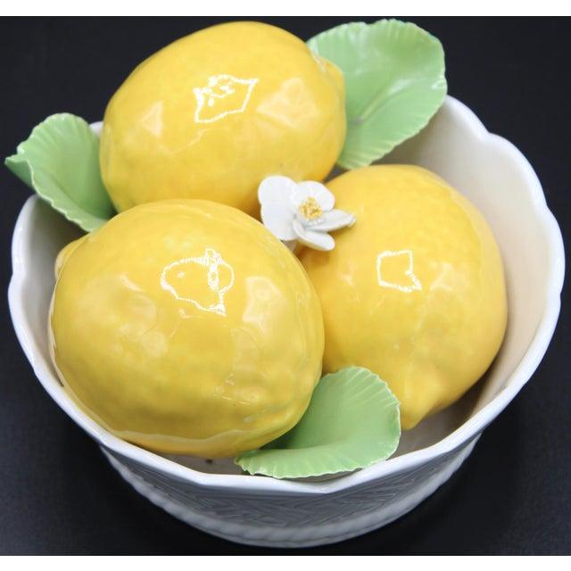 Ceramic Italian Ceramic Round Lemon Basket For Sale - Image 7 of 11