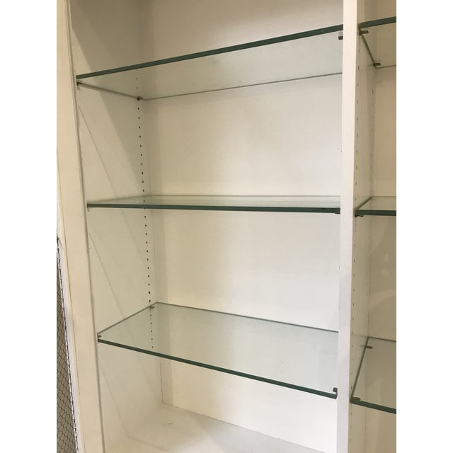 Wood Milling Road White China Cabinet For Sale - Image 7 of 13