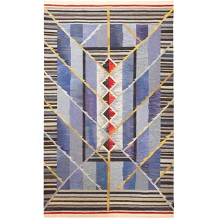 Vintage Scandinavian Rug by Ann Marie Hoke - 6′5″ × 10′2″ For Sale