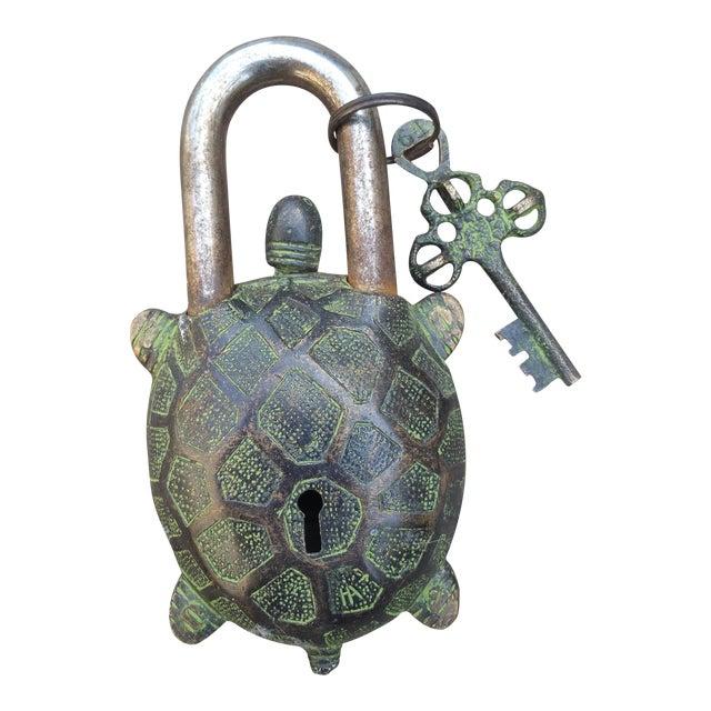 Bronze Turtle Mystery Lock - Image 1 of 3