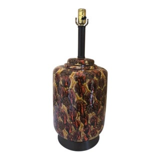 Mid-Century Modern Lava Glaze Lamp For Sale