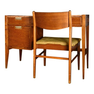 Mid Century Modern Basic Witz Desk and Chair Set - 2 Pieces