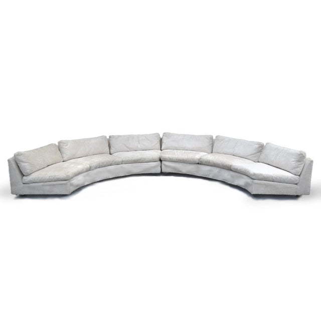 Mid-Century Modern Milo Baughman Semi-Circular Sofa by Thayer Coggin For Sale - Image 3 of 5