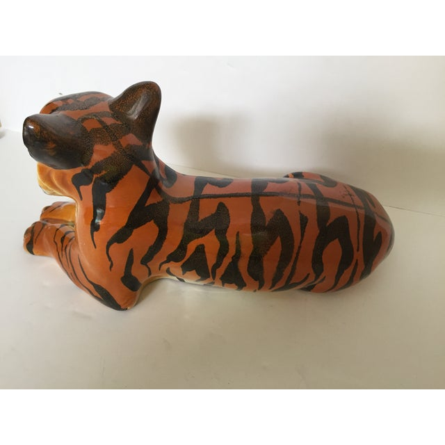 Stunning Italian Ceramic Tiger For Sale In West Palm - Image 6 of 8