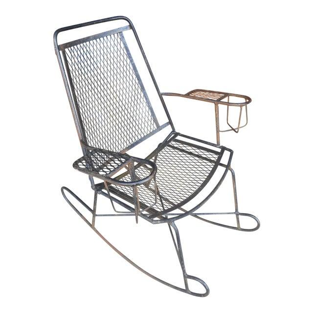Superb 1960S Antique Wrought Iron Wire Childrens Rocking Chair Machost Co Dining Chair Design Ideas Machostcouk