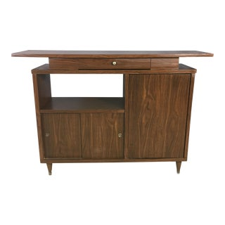 1960s Wood Laminate Dry Bar & Credenza