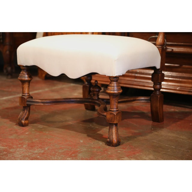 Large French Carved Walnut Dining Room Side Chairs With Arched Top - Set of 10 For Sale - Image 4 of 13