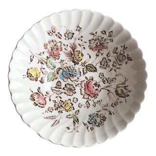 Staffordshire Bouquet England Serving Bowl