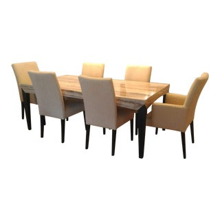 Contemporary Travertine Dining Set For Sale