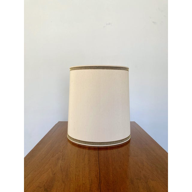 Ivory 1970s Stiffel Silk Lamp Shade For Sale - Image 8 of 8