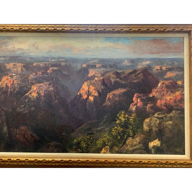 "Canvas Segundo Huertas Original Oil Painting, ""Canyon"" For Sale - Image 7 of 9"