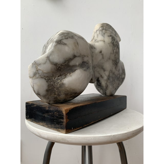 Black Vintage Abstract Marble Sculpture For Sale - Image 8 of 13