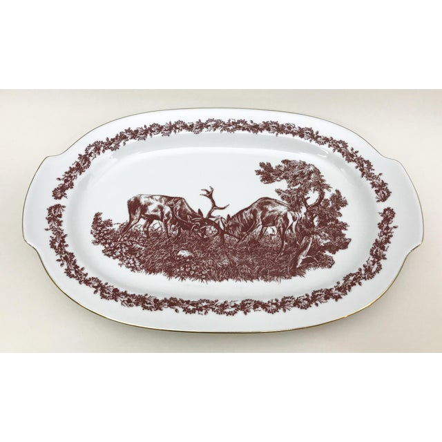 Black Forrest Theme Jlmenau Graf Von Henneberg Dinnerware - 22 Pieces For Sale - Image 9 of 11