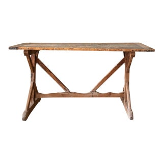 19th Century French Trestle Table For Sale