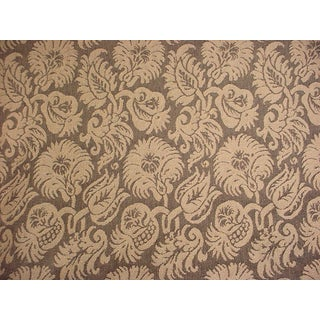 Kravet Couture Cornelian Bouquet Shale Damask Upholstery Fabric- 8 7/8 Yards For Sale