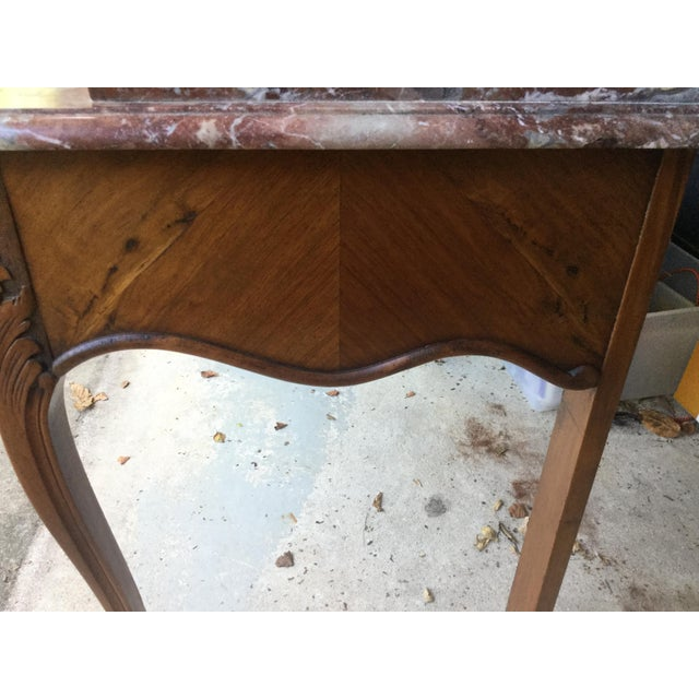 1900 - 1909 1920s French Walnut & Marble Vanity For Sale - Image 5 of 10