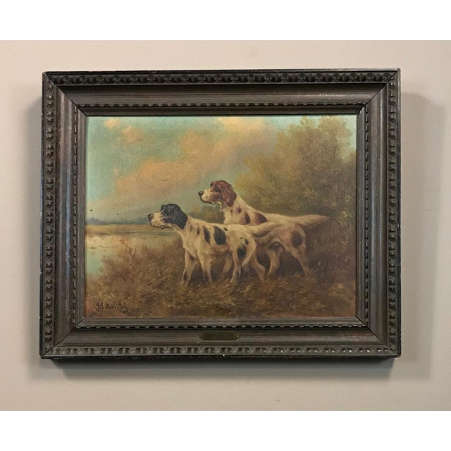 19th Century Framed Oil Painting on Canvas by Paul Schouten For Sale - Image 10 of 10