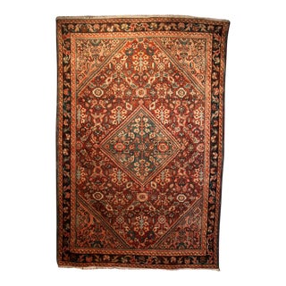 Vintage Mid-Century Persian Rug - 4′5″ × 6′8″ For Sale