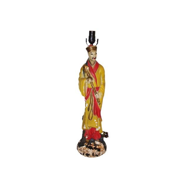Vintage Asian Figural Lamp Base For Sale