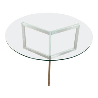 Modern Room & Board Glass Top Coffee Table For Sale