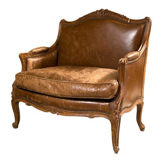 French Provincial Style Bergere Chair For Sale