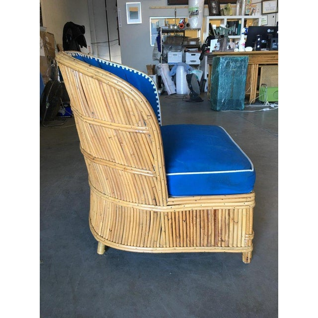 Rare Art Deco Shell Back Stick Rattan Lounge Chairs For Sale - Image 9 of 10