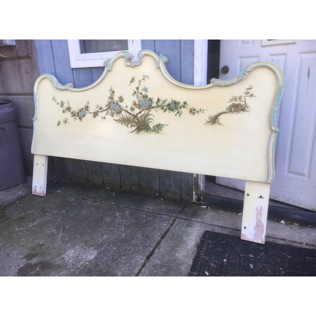 Asian Style Hand Painted King Headboard For Sale - Image 4 of 7