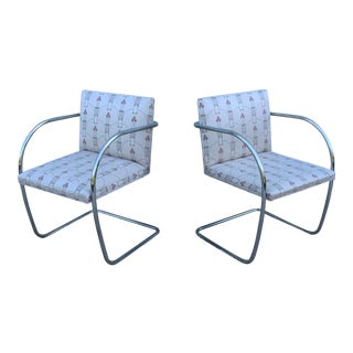 1930s Mid-Century Modern Mies Van Der Rohe Tubular Chairs - a Pair For Sale