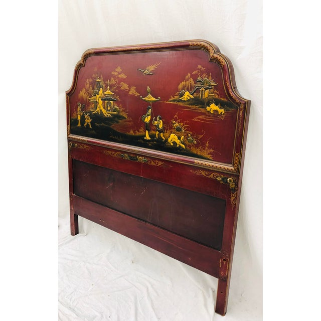 Wood Antique Chinoiserie Bed For Sale - Image 7 of 13