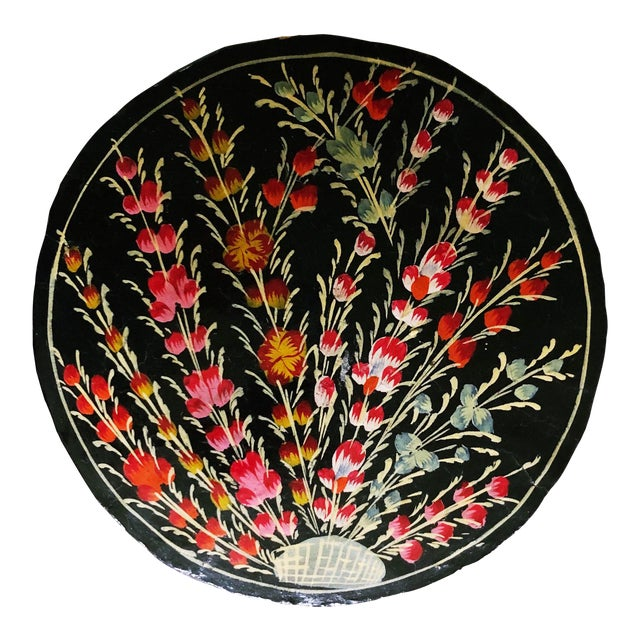 Hand-Painted Floral Coaster Set For Sale