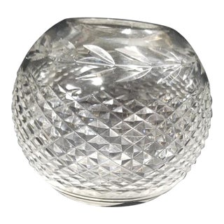 20th Century Waterford Crystal Spherical Vase For Sale