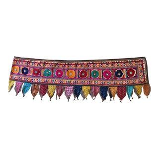Vintage Indian Toran Bandhanwar Ceiling or Wall Trim Tapestry For Sale