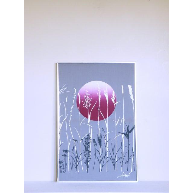 Marushka Style High Contrast Sunset Boho Modern Vaporwave Screen Print For Sale - Image 4 of 4