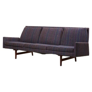 Three Seater Jens Risom Sofa for Risom Design Inc in Good Condition For Sale